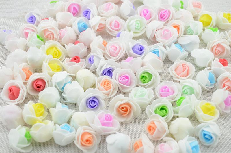 cheap 10PCS PE Foam Rose Flower Head Artificial Rose Handmade DIY Wedding Home Decoration Festive & Party Supplies 2.5cm(China (Mainland))