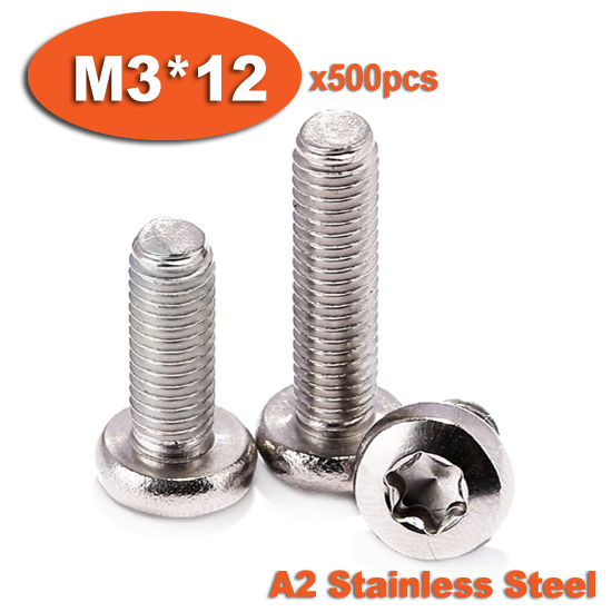 500pcs din7985 m3 x 12 a2 stainless steel torx pan head machine screw screws in screws from home. Black Bedroom Furniture Sets. Home Design Ideas