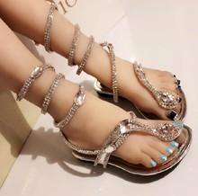 European ankle straps rhinestone