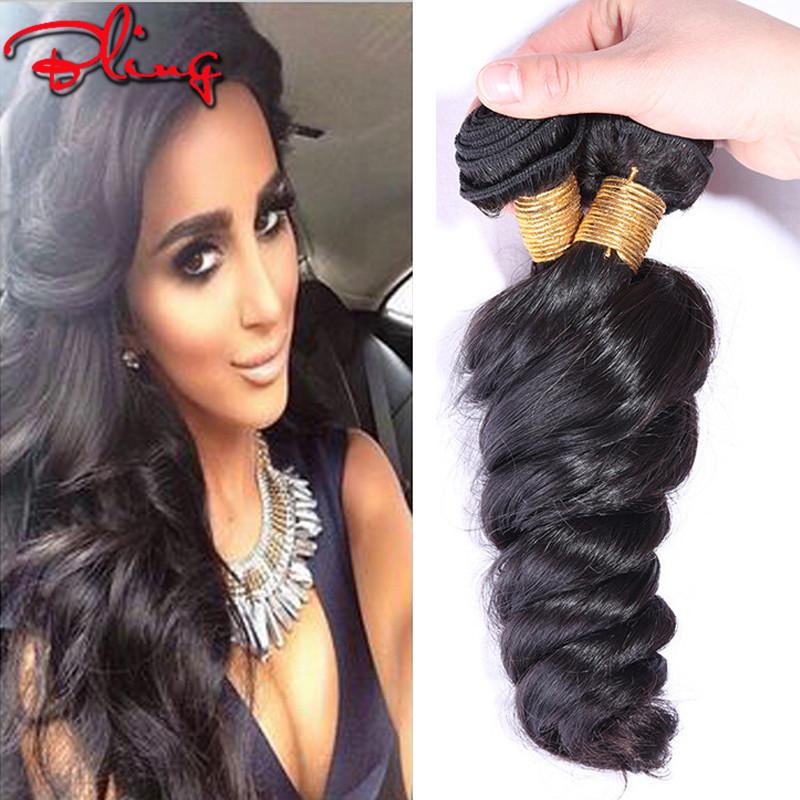 Luvin Hair 6A Unprocessed Virgin Hair Loose Wave 3pcs Indian Virgin Hair Weave Bundles Human Hair Extensions Indian Loose Wave(China (Mainland))