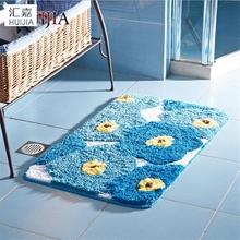 Buy Blue Flower Microfiber Door Mat TPE Non-Slip Soft Rug Carpet Living Room Kitchen Bathroom Floor Mat super absorbent for $55.25 in AliExpress store