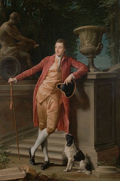 Canvas Art Prints Stretched Framed Giclee Oil Painting Pompeo Batoni <font><b>Italian</b></font> Lucchese Portrait John Talbot Later 1st Earl Talbot