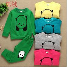 2015 New 2-6 Year-old Kids Suit Baby Girls  Boys Clothes tracksuits Sport Children Clothing Girl Sets For Hoodies + Pants XF139(China (Mainland))