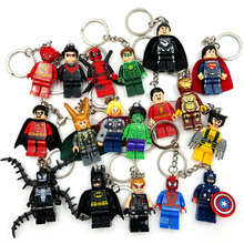 Keychain Super Hero Key Chain Toys Deadpool Batman Joker Avengers Minifigures Keyrings Superhero Marvel Key chain legoelieds(China (Mainland))