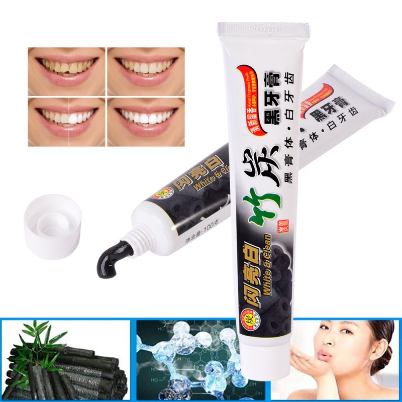 100g Bamboo Charcoal Toothpaste Whitening Black Toothpaste Charcoal Toothpaste Remove Dental Stains Oral Hygiene Toothpaste