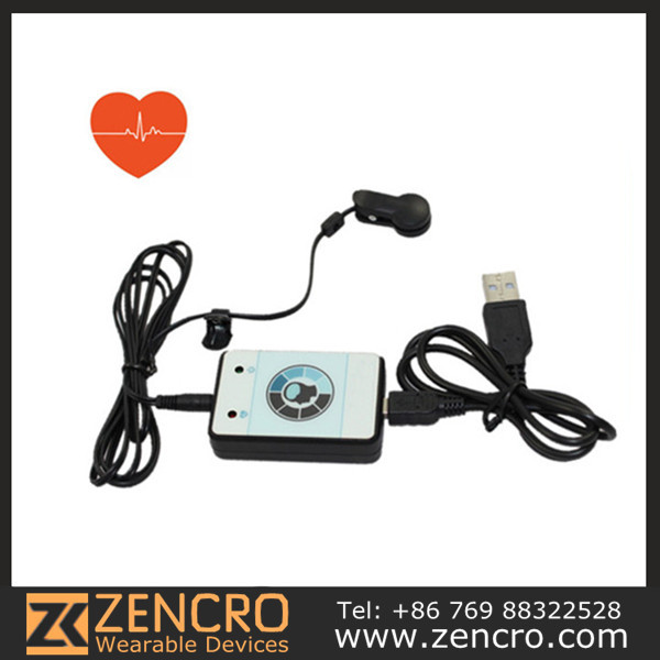 USB Heart Rate monitor with clip finger sensor 2 pieces/lot Earlobe Infrared Monitor Heart Rate Recorder(China (Mainland))