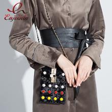 Buy New style fashion corduroy colored rivets flower lock buckle chain shoulder bag ladies handbag purse crossbody messenger ba for $27.99 in AliExpress store