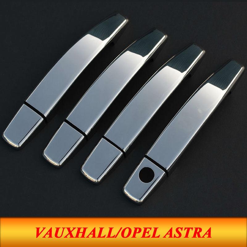 8pcs Set Vauxhall Opel Astra H Abs Chrome Car Door Handles Cover Exterior Door Handle Trim Cover