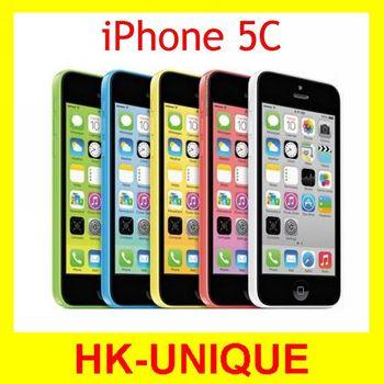 Оригинального Apple iPhone 5C открыл мобильный телефон 32 ГБ двухъядерный IOS 8 нью-retina 4.0 дюймов IPS 8MP камерой GPS WIFI 3 г WCDMA смартфон
