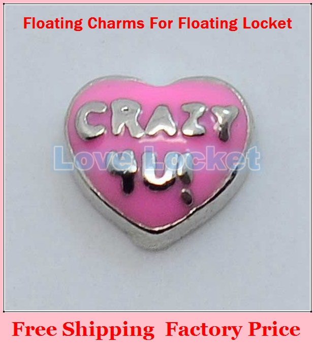 Free Shipping 2014 New Pink Crazy 4u Origami Owl Floating