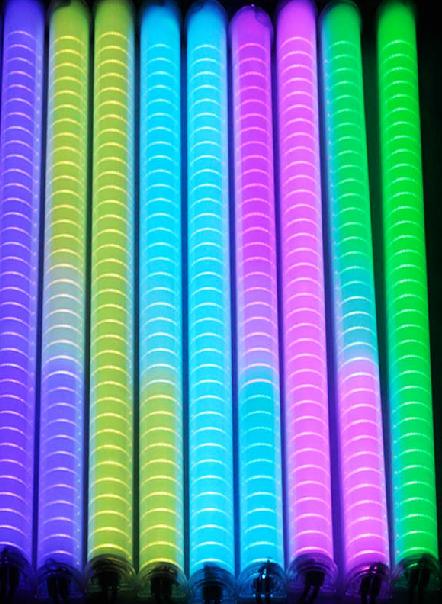 DMX AC220V 48pcs 5050 RGB Led digital tube led guardrail tube solid color colorful 8pixel/m(China (Mainland))
