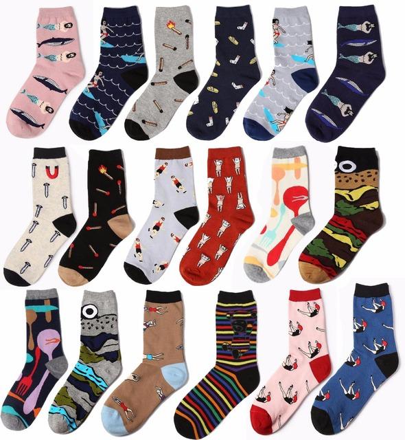 HARAJUKU Emoji odd future носки конфеты цвет хлопка высокого качества homme мужские ...
