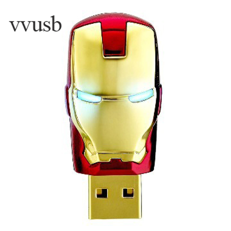 vvusb LQQW004 Iron man USB Flash Drive 64GB 32GB Cool pendrives16GB 8GB Car Key Memory Stick Flash Pen Drive U disk thumbdrives(China (Mainland))