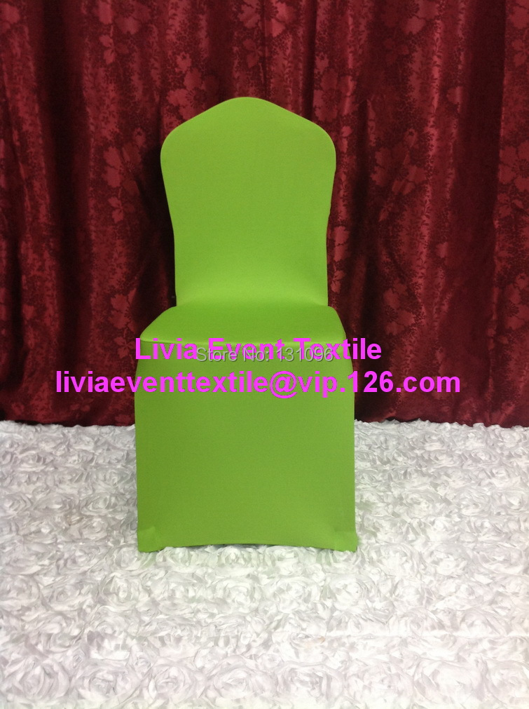 100pcs #39 Apple Green Lycra Chair Cover Full front , Flat Front Lycra Chair Cover for Wedding Events &Party Decoration(China (Mainland))