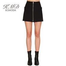 Buy KMD KOMODA Black Skirt Women Summer Basic Zipper Mini Skirt Female Pockets Elegant Casual High Waist A-line Skirt Ladies for $10.99 in AliExpress store