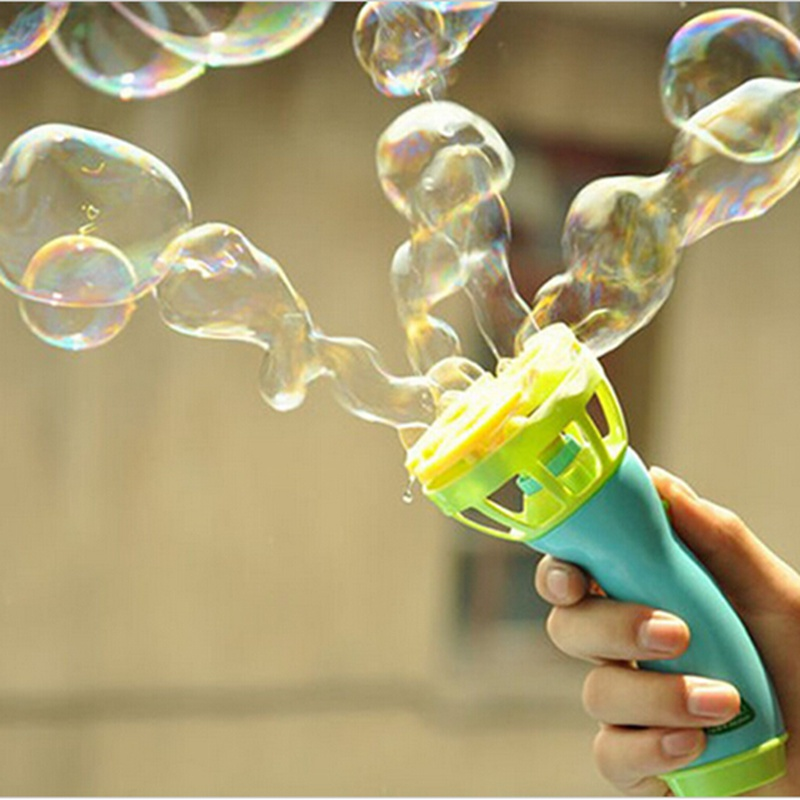 Hot Electric Bubble Gun Toys Bubble Machine Automatic Bubble Water Gun Essential In Summer Outdoor Children Bubble Blowing Toy(China (Mainland))