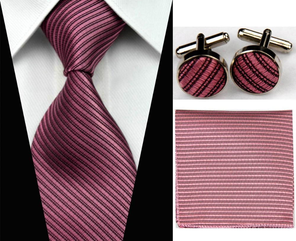 "4""/10cm Wide Mens Accessories Solid Striped Pattern Business Silk Tie Set Hanky Handkerchief Cufflinks Necktie for Men(China (Mainland))"