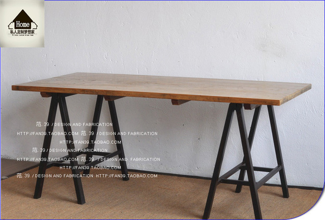 loft american country wrought iron table to do the old wood vintage desk table desk computer american country wrought iron vintage desk