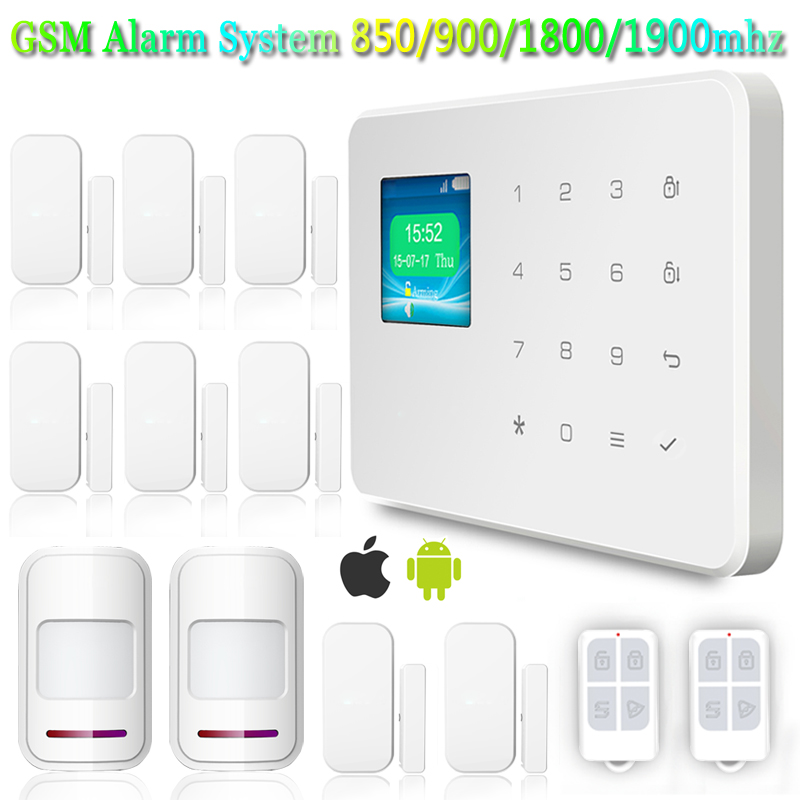 Фотография Wireless GSM Home and Business PIR Security Burglar Alarm System Kit DIY Auto Dialing Dialer with Android &IOS APP control