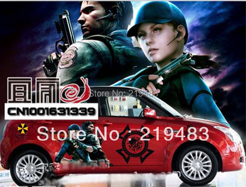 Resident Evil Afterlife vehicle stickers / car garland / game posters body stickers / beauty soldiers, special warrior