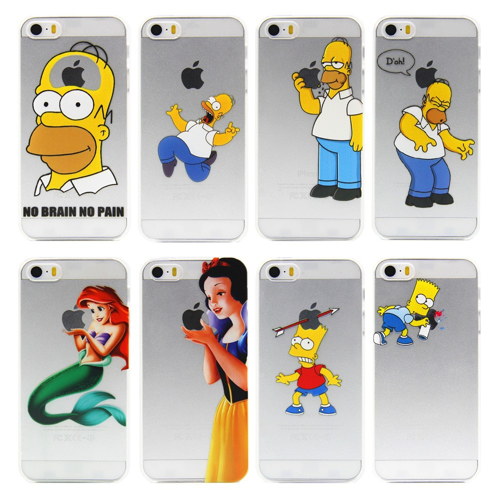2015 top fasion transparent Grind arenaceous hard cases For apple iphone 4 4S 4G case the homer simpson simpsons gasp logo clear(China (Mainland))