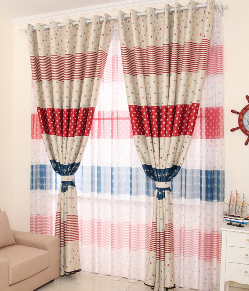95*200cm Stripes Dots Windows Curtains Living Sitting Room Bedroom Home Decoration AA