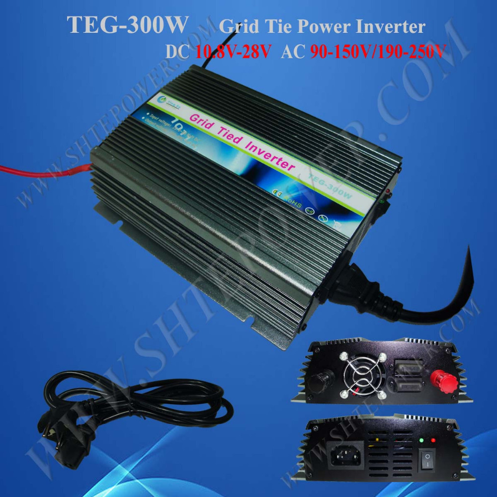 300 watt dc to ac on grid tie inverter solar, inverter 300W on grid, inverter 12V 220V(China (Mainland))