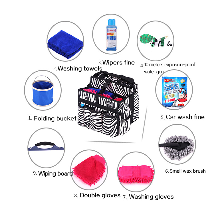 10 pieces/Set Car Washing Tools Polishing & Grinding Materials Set for truck Van Washer including Car water pump Paint mainte(China (Mainland))