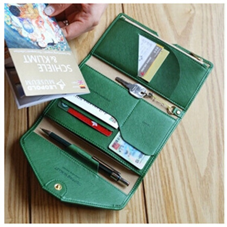 Multifunction Korean fashion Travel Passport Bag bill Clip Documents wallet purse Anti Degaussing card holder clutch wallet 757(China (Mainland))