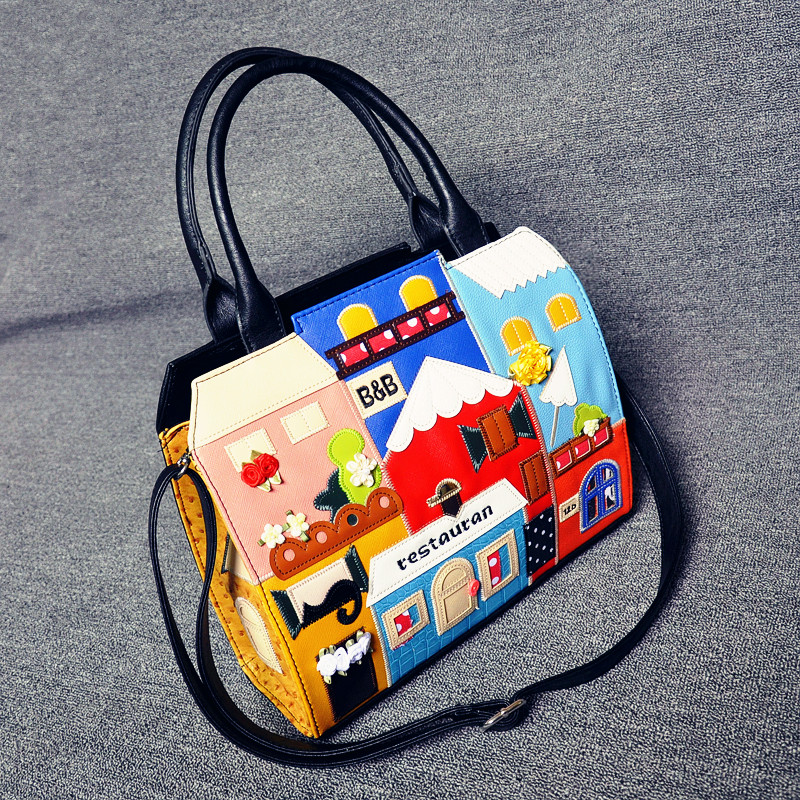 Japan and South Korea fashion bags of large capacity spot rare tall hand stitched sole decoration(China (Mainland))