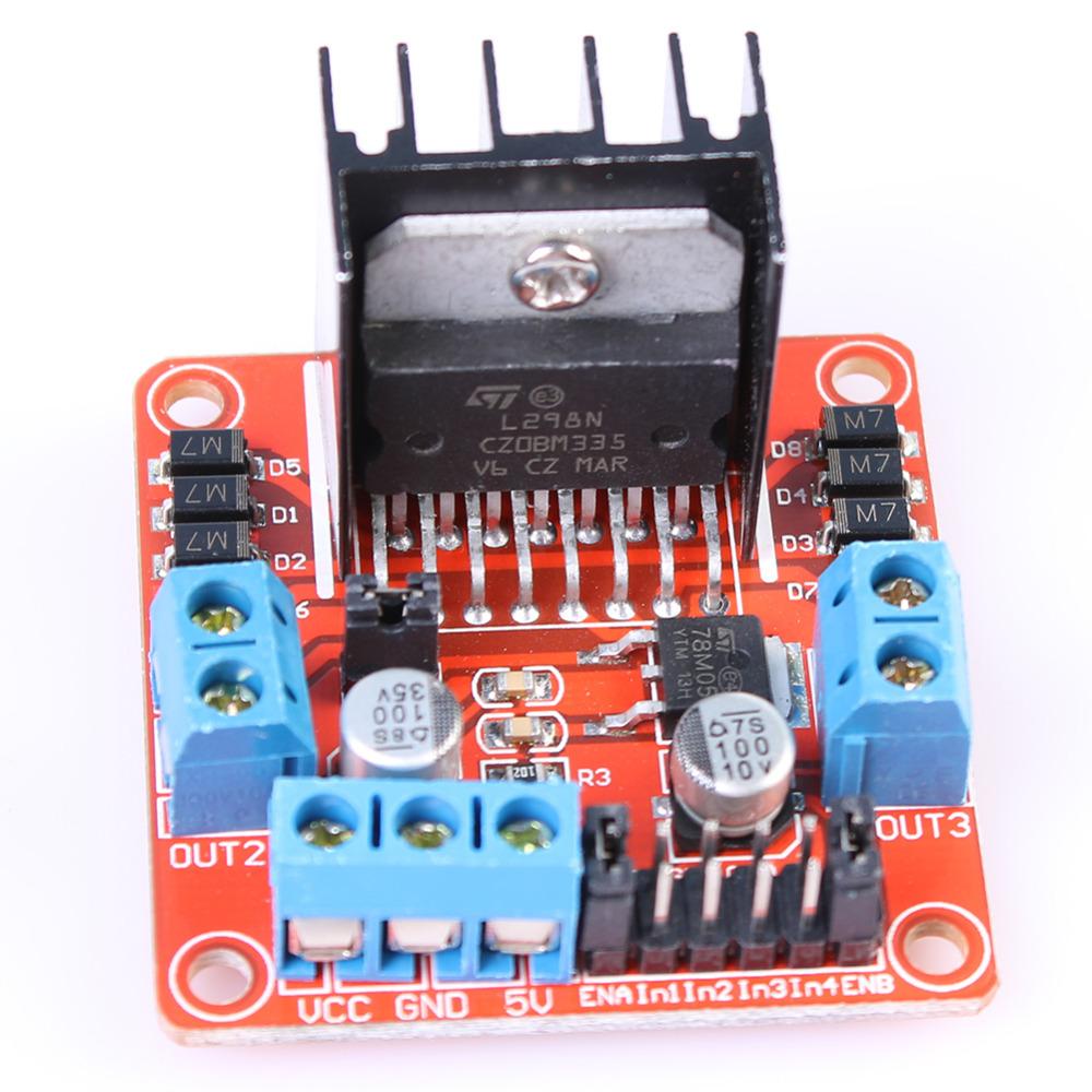Dual H Bridge DC Stepper Motor Drive Controller Board Module L298N for Ar-duino Stepper Motor Smart Car Robot Wholesales(China (Mainland))
