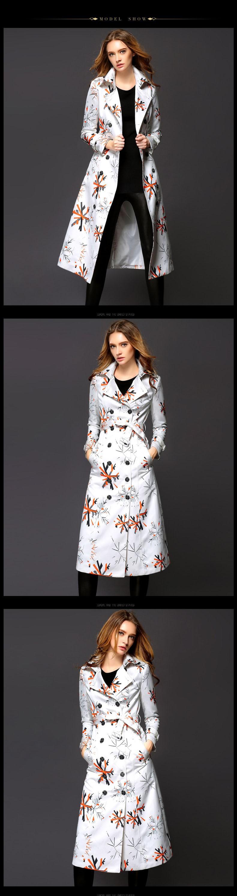 Скидки на Длинные Пальто Для Женщин Осенью И Зимой Пальто Burb Тренч Европейский Плащ Печати Shitsuke Пальто