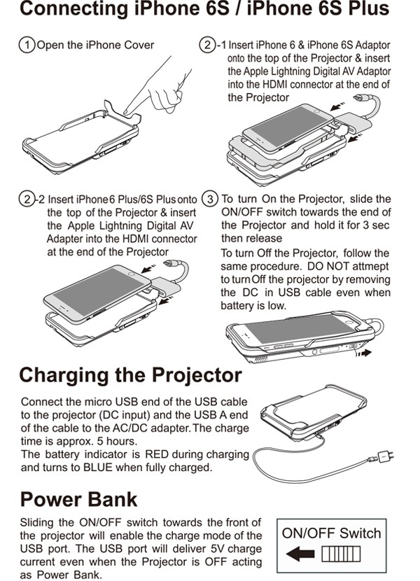brookstone pocket projector micro manual
