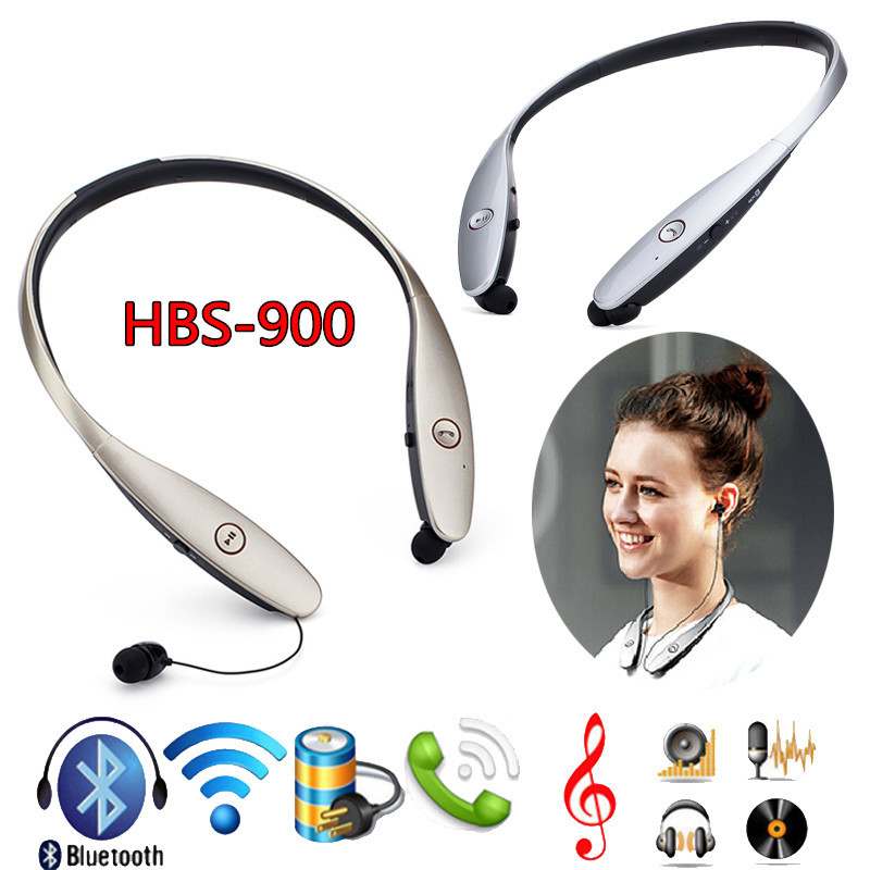 2015 Fashion Hbs900 Headphone Wireless Bluetooth Stereo Headsets Neckband Harman Kardon Sound Gold And Silver For LG Tone(China (Mainland))