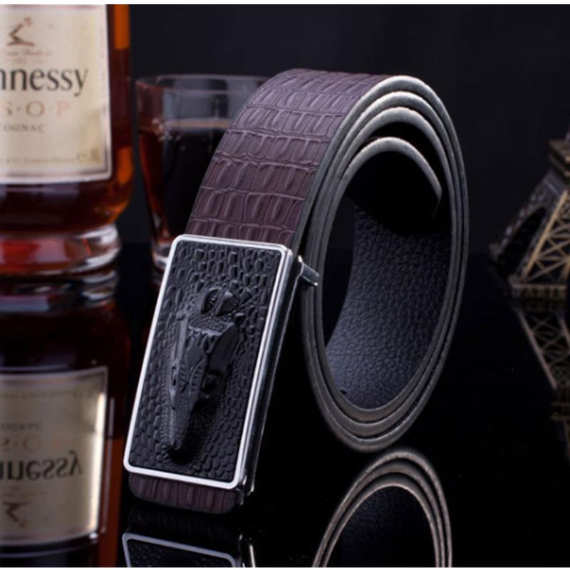 Belt 2016 Hot Fashion Cowhide Leather men belt Designer Luxury Famous High quality Smooth buckle men Belts for men(China (Mainland))