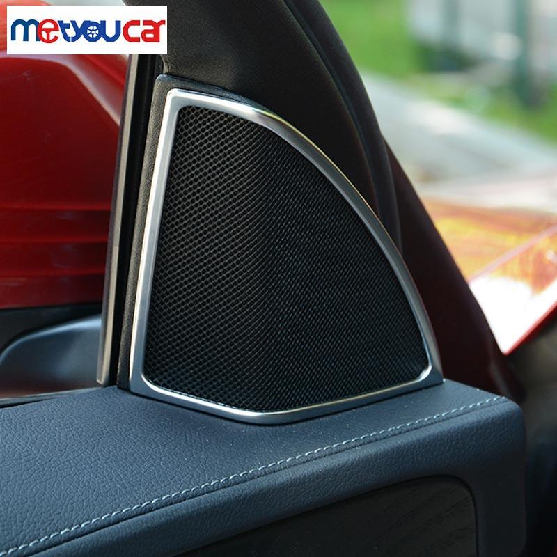 Chrome Door Speaker Cover Trim Mercedes Benz C Class W205 2015 C180 C200 C260 Car Styling - World Accessories store