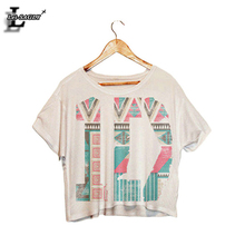 "Buy Lei-SAGLY 2017 ""1D"" Letter Fashion Dew Navel Short Sleeve Crop Tops Harajuku Sexy T-shirt Fitness Kawaii Camisetas T shirts F988 for $3.98 in AliExpress store"