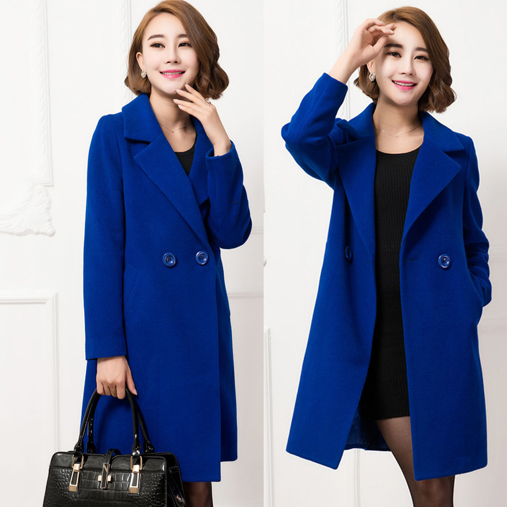 FREE SHIPING fashion Casual womens Wool Coat long Winter coats Outerwear for lady top quality XQ398Одежда и ак�е��уары<br><br><br>Aliexpress