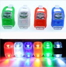 1pcs Mini Waterproof Silicone mountain Bike Light Cycling Beetle Warning lights Front Rear Tail Lamp Bicycle light BL0501