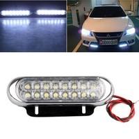 2pcs x Universal Car 16 LED Daytime Running Driving DRL Fog Light Lamp Bulb 12V DC<br><br>Aliexpress