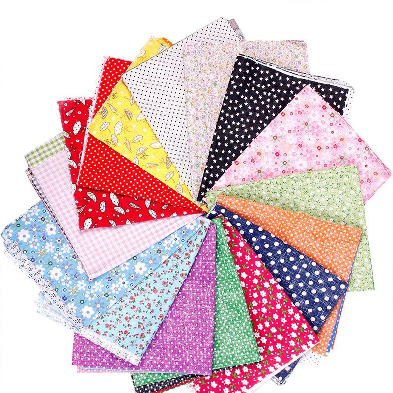 New 5pcs Fabric Square Cotton Patchwork Quilting Floral Polycotton Craft Remnants #64675(China (Mainland))