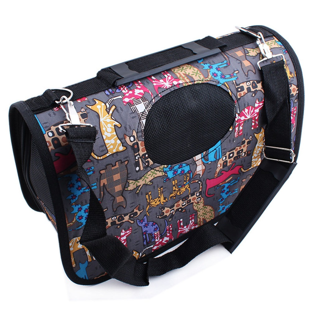 Fashion Colorful Print Pet Carrier Bag Outdoor Dog Cat Handbag Portable Luggage Crates For Small Dogs S/M/L(China (Mainland))
