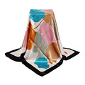 Fashion 90 cm Women Square Scarves Large Imitated Silk Scarves and Stoles Floral Thin Ladies Office