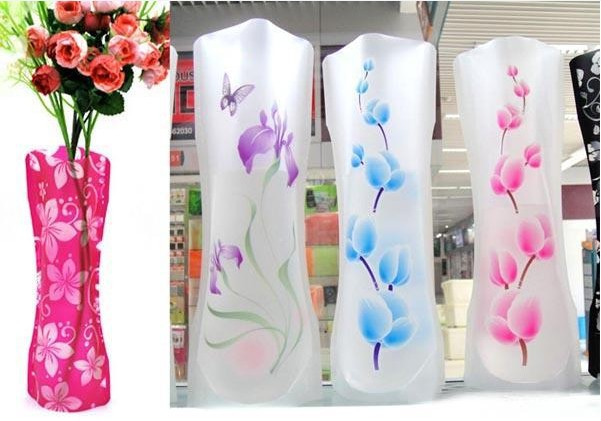 Free shipping, new design foldable plastic flower vase for home/office/bar decoration, Drop shipping, IB0003(China (Mainland))