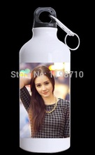 Charming Girl with Long Hair Printed Water Bottles Unique Bottles for Hiking Best Gift(China (Mainland))