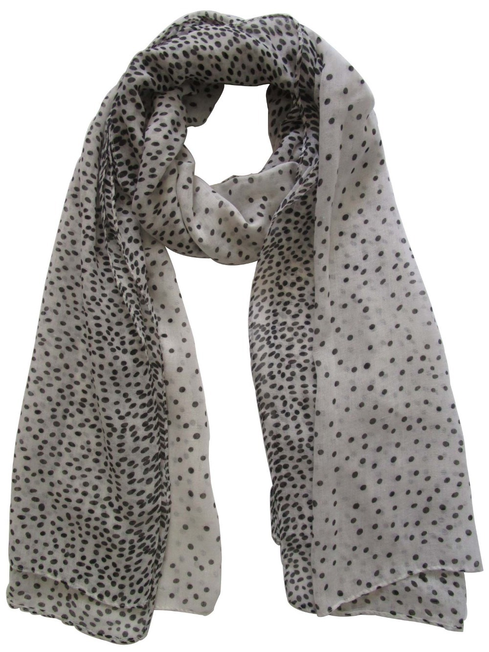 Free Shipping 2015 New Fashion Small Black White Polka Dot Scarf Wrap For Women Mother(China (Mainland))