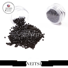 Neitsi 1000pcs/bottle Nano Rings Beads For Nano Ring Micro Loop Links Fusion Keratin Human Hair Extensions Black Color For Sale(China (Mainland))