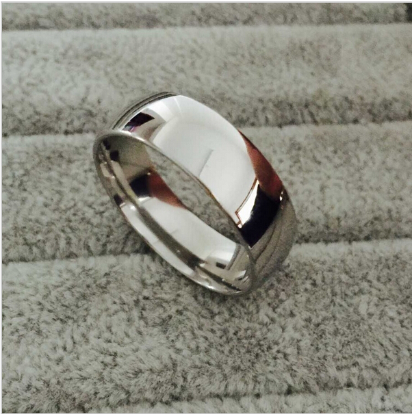 Free Shipping silver plated Ring Fine Fashion Forever Love Steel Ring Women&Men Gift Silver Jewelry Finger Rings SMTR095(China (Mainland))