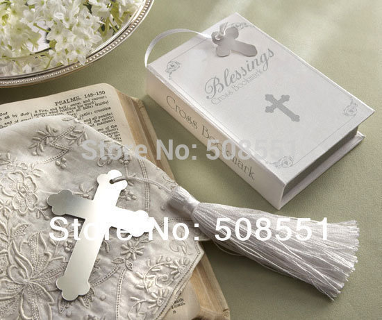 Free shipping 20pcs XMAS GIFT Book Lovers Collection Cross Bookmark Christening / Baby Shower Favors(China (Mainland))