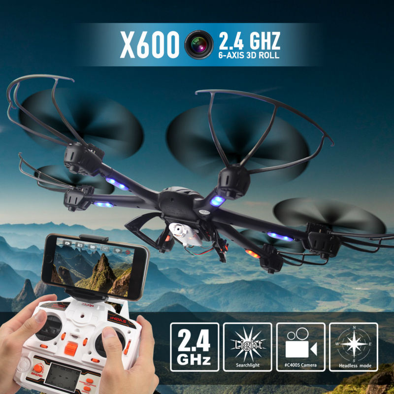 New drone with camera fpv quadcopter MJX X600 2 4G RC helicopter 6 axis Quadcopter Headless